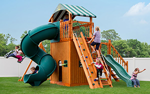 The Launching Pad Wood Play Set