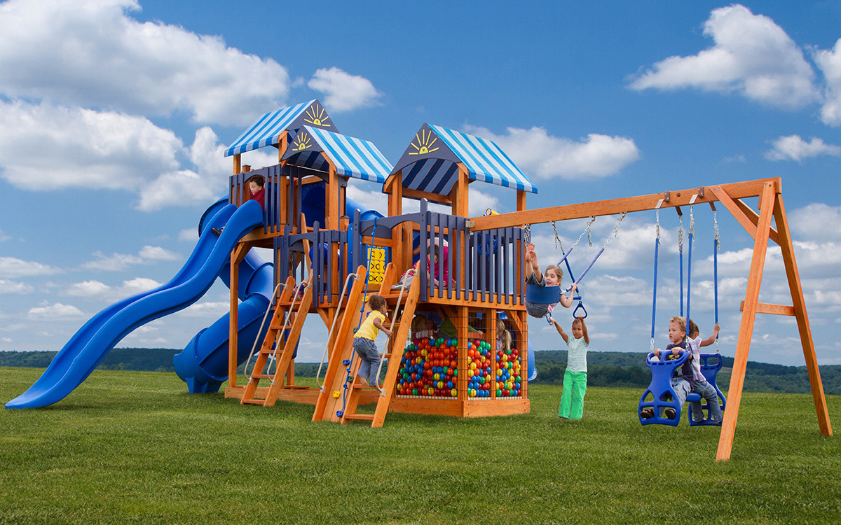 Handcrafted Swing Sets Playsets Pine Creek Structures