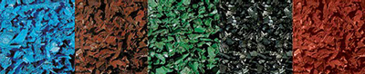 Play Set Rubber Mulch Colors: Blue, Brown, Green, Black, & Red