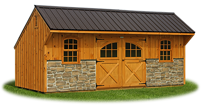 10 x 20 Providence Carriage House Style Storage Shed