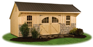 Providence carriage house style storage sheds