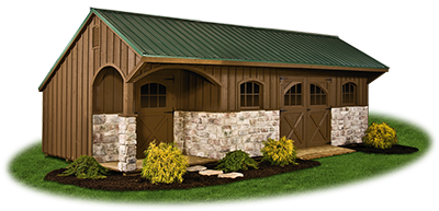 12x28 Customized Providence Carriage House Style Storage Shed