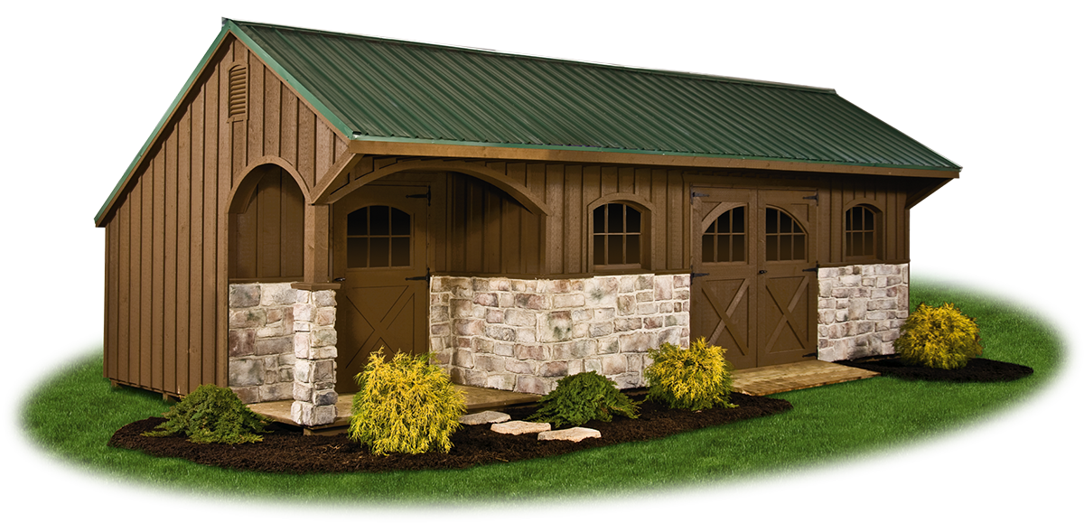 Providence carriage style pine creek structures for 12x28 shed