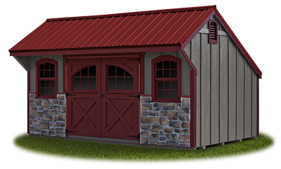 10 x 16 Providence Carriage House Style Storage Shed with LP Board & Batten Siding