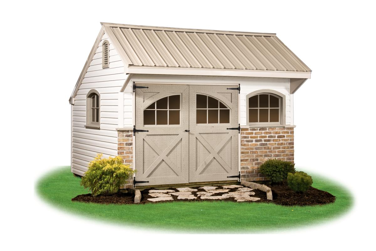 Providence carriage style pine creek structures for Carriage house shed plans