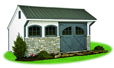 10x 16 Providence Carriage House Style Storage Shed