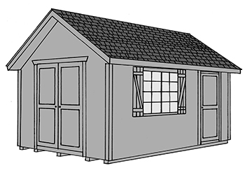 Pine Creek Structures cape cod style storage shed