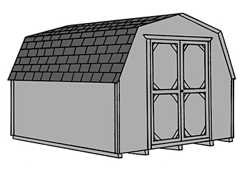 Pine Creek Structures mini barn style storage shed