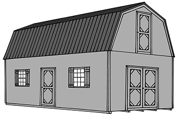 Pine Creek Structures two story barn drawing