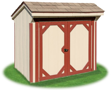 Vinyl hip roof storage shed