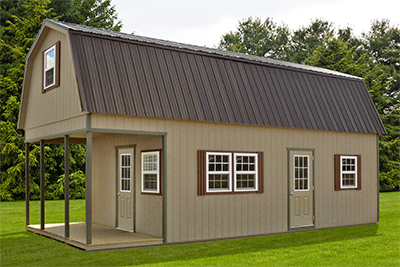 Custom Two Story Gambrel Barn Cabin from Pine Creek Structures