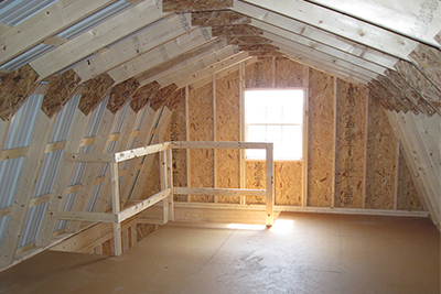 Two Story Gambrel Barn Second Floor Interior
