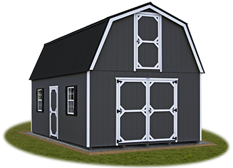 Two Story Gambrel Barn Storage Shed from Pine Creek Structures