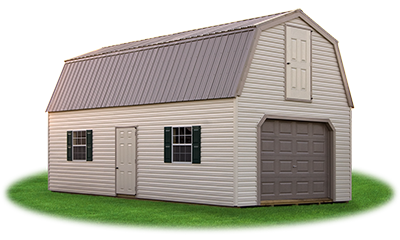 Two Story Garage with Gambrel Roof from Pine Creek Structures