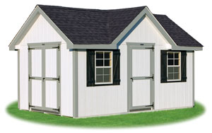 deluxe style victorian ready made storage shed with lp smart side siding