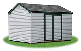economy madison peak shed with vinyl siding