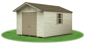 front entry vinyl siding peak shed 1