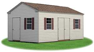 side entry vinyl siding peak shed 3