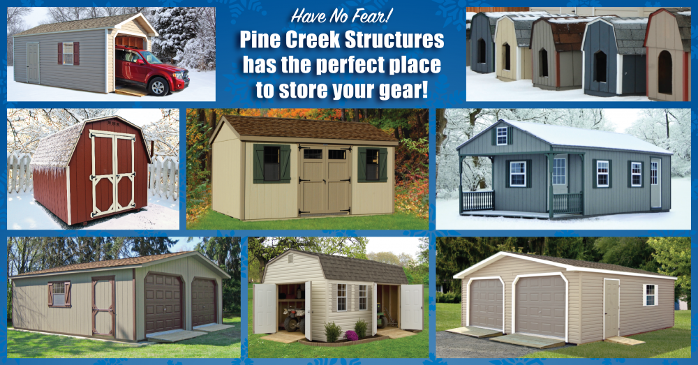 Get ready for winter with a new shed or garage from Pine Creek Structures!