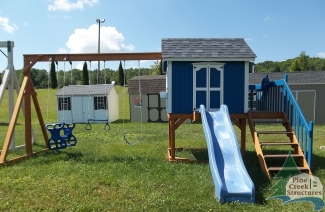 Swingsets, playsets, playhouse