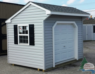8ft x 10ft Vinyl Cottage Shed in Hanover, PA Pine Creek Structures