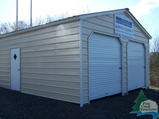 20 X 21 X 9 Enclosed Carport From Hbo Carports Just