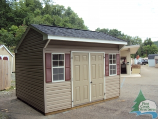 Pine Creek Structures Monroeville 10x12 Vinyl Cottage