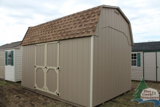 10x14 Madison Dutch with Buckskin walls, Beige trim, and Shakewood shingles