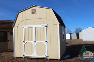 10x10 Madison Dutch with Beige walls, White trim, and Charcoal shingles