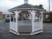 12ft vinyl octagon gazebo serving lancaster,dauphin,lebonan counties
