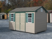 8x12 peakside building with 4ft double door and 2 18x36 inch windows