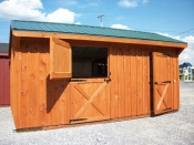 Pine creek12x18 horse barn with a 12x12 stall and 6x12 storage room