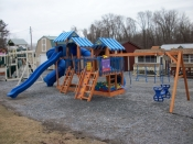 the rocket launcher extreme swingset located at etown locayion