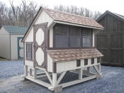 Moore Country Pine Creek 6x8 Tan Chicken Condo with Dark Brown Trim