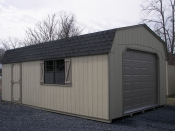 Moore Country Pine Creek 14x24 Beige Dutch Garage with Buckskin Trim