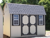 Moore Country Pine Creek 10x12 Dutch Barn with Black Trim