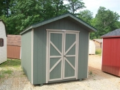 8X12 Small Front Entry Peak Storage Shed