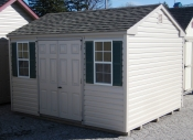 10ft x 12ft Vinyl Side Entry Peak Shed in Hanover, PA Pine Creek Structures
