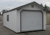 12ft x 24ft Vinyl Peak Garage Shed in Hanover, PA Pine Creek Structures