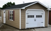 14ft x 24ft Vinyl One Car Peak Garage in Hanover, PA Pine Creek Structures