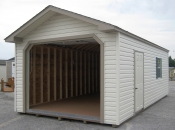 12ft x 24ft Vinyl Peak One Car Garage in Hanover, PA Pine Creek Structures