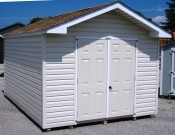 10ft x 14ft Vinyl Front Peak Shed in Hanover, PA Pine Creek Structures