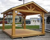 12ft x 14ft Wood Peak Pavilion in Hanover, PA Pine Creek Structures