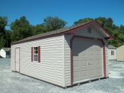 Pine creek 12x24 peak garage building serving lancaster,dauphin,lebonan counties