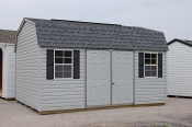 Pine Creek Structures ready made 12x16 Vinyl sided Dutch storage Barn