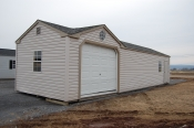 12x40 Custom Peak with Garage Door