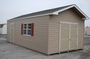 12x24 Vinyl Front Entry Peak Shed