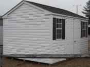 10X12 Viny Shed by Pine Creek Structures