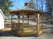 12' Octagon Deluxe Wood Gazebo