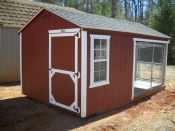 8x14 Cusomtized Dog Kennel with Heater